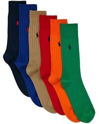 Polo Ralph Lauren Egyptian Cotton Rib Fashion Socks - Blau