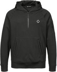 MA.STRUM Pullover à Capuche Tech Fleece - Noir
