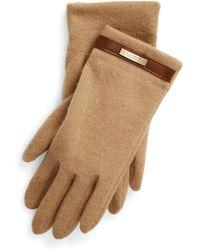 Lauren by Ralph Lauren Belted Wool Blend Handschuhe - Natur