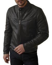 Belstaff Leather Jacket Pelham - Noir
