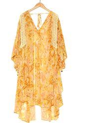 Free People Kaftan Lost In Love Kimono - Jaune