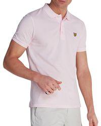 Lyle & Scott Vintage Plain Pique Polo-Shirt - Lila