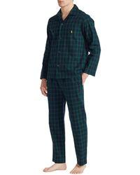 Polo Ralph Lauren Cotton Twill Set Schlafanzüge - Blau