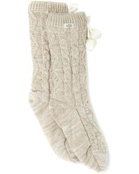 UGG Pom Pom Fashion Socks - Naturel