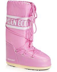 Moon Boot Nylon Boots - Pink