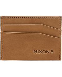 Nixon Portafoglio Flaco Leather Card - Marrone