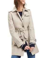 Tommy Hilfiger Trench-coat droit Heritage - Bleu