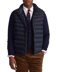 Polo Ralph Lauren Packable Quilted Vest Gilet - Blue