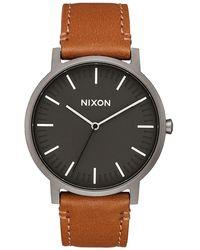 Nixon Montre Porter Leather - Multicolore