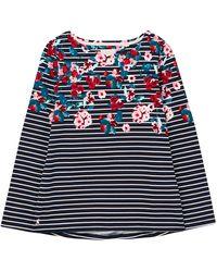 Joules Harbour Print Long Sleeve T-shirt - Blue