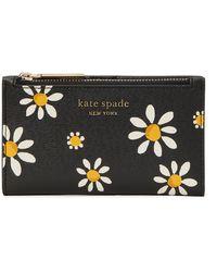 Kate Spade Small Slim Bifold Portemonnee - Zwart