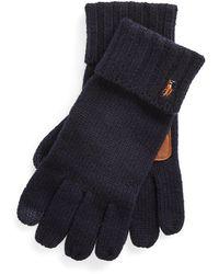 Polo Ralph Lauren Merino Wool Handschuhe - Blau