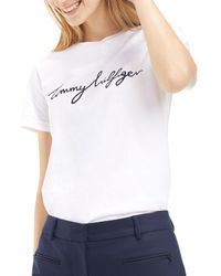 Tommy Hilfiger T-shirt WW0WW24967 - Blanc
