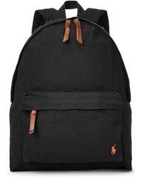 Polo Ralph Lauren Colour Shop Canvas Backpack - Black