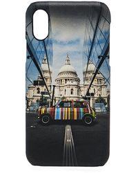 Paul Smith Iphone X 'mini' Print Telefooncase - Blauw