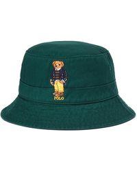 Polo Ralph Lauren Chapeau 16/1 Twill-loft Bucket Hat - Vert