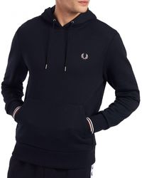 Fred Perry Sweat Tipped Hooded - Bleu