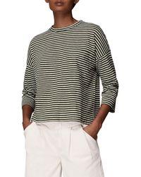 Whistles Top Stripe Cotton Pocket - Multicolore