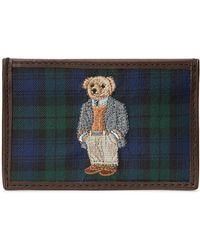 Polo Ralph Lauren Card Holder Bear Tartan - Bleu