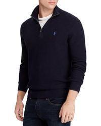 Polo Ralph Lauren Sweat Cotton Quarter-Zip - Bleu