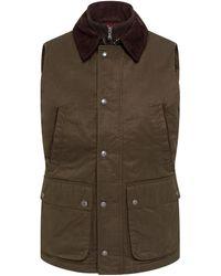 Hackett Wax Cotton Waistcoat - Green