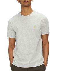 Ted Baker T-Shirt à Manche Courte Madras - Gris