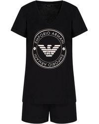 Emporio Armani Pyjamas Knitted Short - Noir