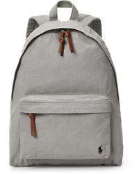 Polo Ralph Lauren Colour Shop Canvas Backpack - Grey