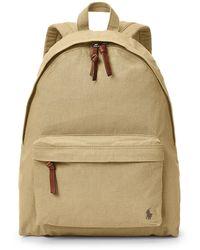 Polo Ralph Lauren Colour Shop Canvas Backpack - Natural