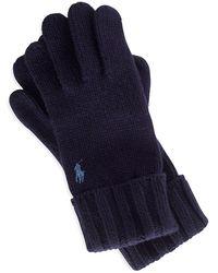 Polo Ralph Lauren Wool Handschuhe - Blau