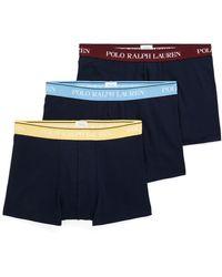 Polo Ralph Lauren Caleçons Classic Stretch Cotton Trunk 3-Pack - Bleu