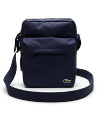 Lacoste Neocroc Canvas Crossover Messenger Bag - Blau