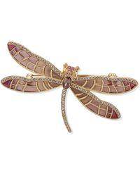 Lauren by Ralph Lauren Brooch Box Pin Enamel Dragonfly - Métallisé