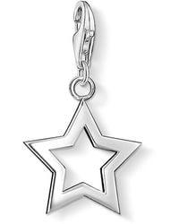 Thomas Sabo Bracelet Charm Star Pendant - Metallizzato