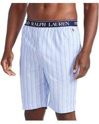 Polo Ralph Lauren Pyjamas Woven Cotton Sleep Short - Bleu