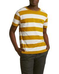 Maison Labiche Striped Outsider Short Sleeve T-shirt - Yellow