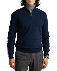 Polo Ralph Lauren Hybrid Quarter-Zip Pullover - Blau