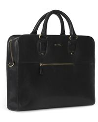 Oliver Sweeney Briefcase Hereford Leather - Noir