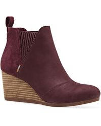 TOMS Bottes Suede Leather Kelsy Boot - Violet