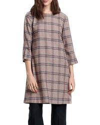 GANT D1. Washable STR Wool A-Line Dress Vestito - Marrone