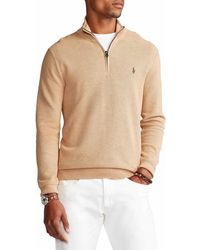 Polo Ralph Lauren Cotton Quarter-Zip Pullover - Natur