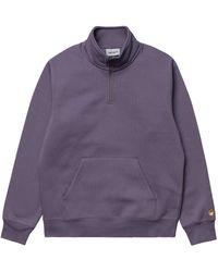 Carhartt WIP Carhartt Chase Neck Zip Jumper - Purple