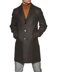 Harris Wharf London Boxy Double Faced Wool Jacket - Brown