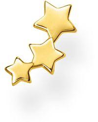 Thomas Sabo Earrings Single Stud Stars Gold - Métallisé