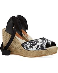 Penelope Chilvers High Catalina Toile Espadrilles - Black