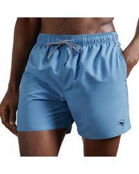 Ted Baker Shorts de Bain Hotdawg - Bleu