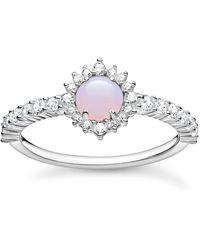 Thomas Sabo Imitation Opal Zirconia Cocktail Ring - Metallic