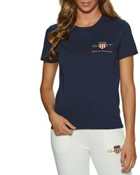 GANT T-Shirt a Manica Corta Archive Shield - Blu