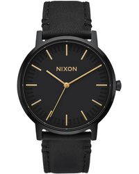 Nixon Orologio Porter Leather - Nero