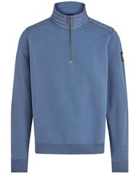 Belstaff Maglione Jaxon Quarter Zip - Blu